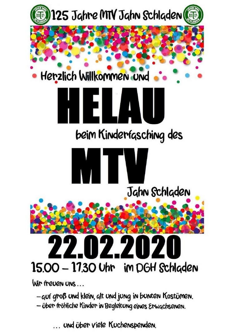 Kinderfasching vom MTV Jahn Schladen @ Dorfgemeinschaftshaus | Schladen | Niedersachsen | Deutschland